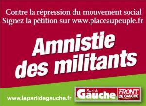 Le Front de Gauche appelle à l'amnistie des délits lors d'évenements syndicaux