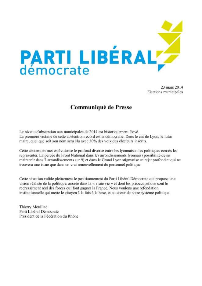 20140323 - CP 1er tour municipales